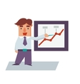 Reporting Business Man Cartoon Character vector image
