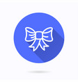 ribbon bow icon for graphic and web design vector image