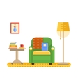 room interior with armchair table and lamp vector image vector image