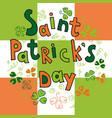 saint patrick s day greeting card vector image vector image
