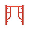 scaffolding frame icon vector image vector image