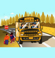 school bus driver and kids vector image vector image