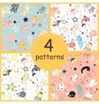 Sea creatures seamless pattern vector image vector image
