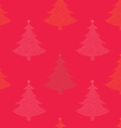 Seamless pattern Christmas tree vector image vector image