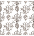seamless pattern from outline drawings of a vector image vector image