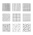 set abstract squares hand drawn backgrounds vector image vector image