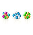 set flight up rainbow color helium balloons vector image