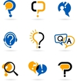 Set of question mark icons vector | Price: 1 Credit (USD $1)