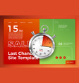site template alarm watch show sale time vector image