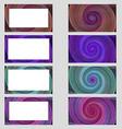 Spiral design business card frame set vector image vector image