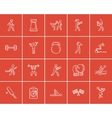 Sport sketch icon set vector image vector image