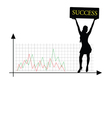 success girl silhouette vector image vector image