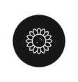 sunflower icon simple car sign vector image vector image