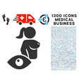 view prostitute icon with 1300 medical business vector image vector image