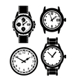 Watch and clock vector image vector image