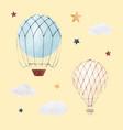 watercolor air baloon vector image vector image