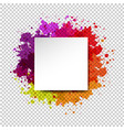 watercolor blot and banner abstract transparent vector image vector image