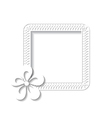 white square floral frame vector image vector image