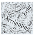 Why Use Outsourced Accounting Word Cloud Concept vector image vector image