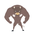 wild bull a animal vector image vector image