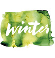 Winter calligraphy Hand lettering Abstract vector image vector image