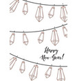 winter holidays design happy new year social vector image vector image