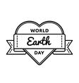 World Earth day greeting emblem vector image vector image