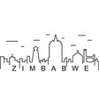 zimbabwe outline icon can be used for web logo vector image