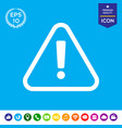 attention icon vector image