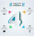 four business infographics origami style vector image