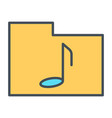 music folder thin line icon pictogram vector image