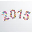 2015 year numbers vector image