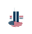 911 patriot day card with twin towers vector image vector image
