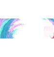 abstract colorful surface splash watercolor vector image vector image