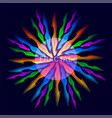 abstract fractals fire circle vector image vector image