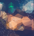 abstract polygonal vintage background with vector image