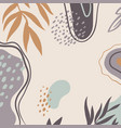 background with abstract plant pattern