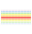 bank card shape halftone spectral array vector image