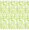 beautiful green leaves pattern background vector image