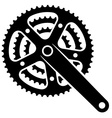 bicycle cogwheel sprocket crankset symbol vector image vector image