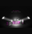 black friday 70 percent sale banner vector image vector image