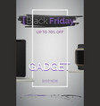 black friday gadget sale banner template vector image vector image