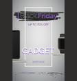 black friday gadget sale banner template vector image
