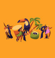 brazilian samba carnival dancer latino character vector image vector image