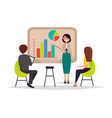 business meeting presentation vector image vector image