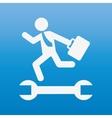 businessman running design vector image vector image