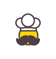 chef pizza and food logo icon design vector image vector image