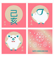 chinese new year design with different vector image vector image