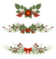 christmas tree branch decoration frame divider vector image