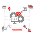coding and programming concept coding and vector image vector image